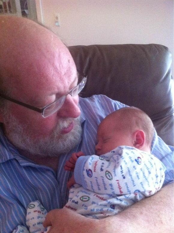 Grandson and me